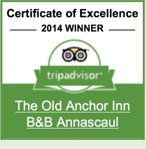 Trip Advisor certificate of excellance.